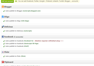 Interface-Accounts list