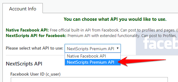 New Product Release – NextScripts Premium API for Facebook