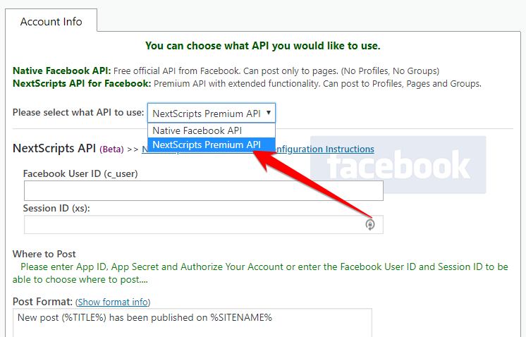 Update to NextScripts Premium API for Facebook – SNAP Plugin 4.2.3 and API 4.3.6