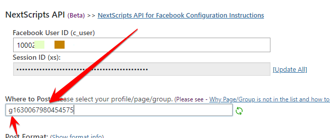 Facebook: How to Post to a Custom Page - NextScripts
